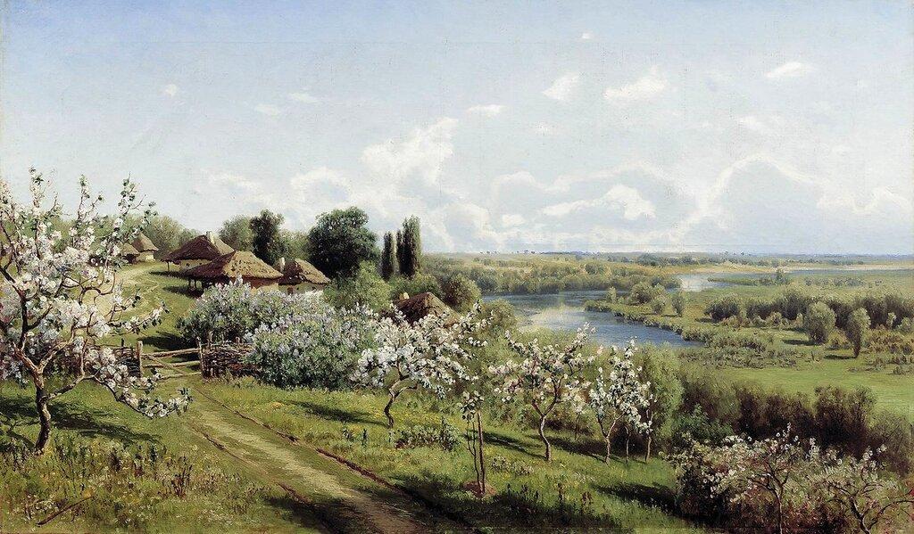 Николай Александрович Сергеев. Яблони в цвету в Малороссии. 1895