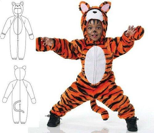 Новогодний костюм тигра своими руками выкройки