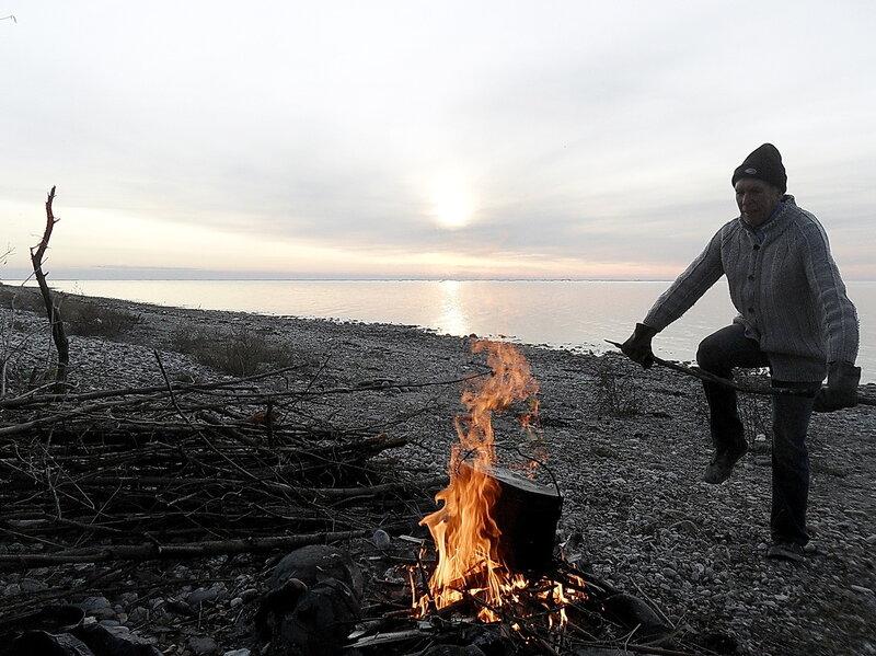 На закате, ноябрь 2011, побережье Азовского моря
