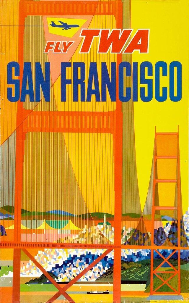 Vintage Travel Posters by David Klein