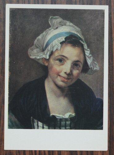 Голова девушки в чепце. 1760-е гг.