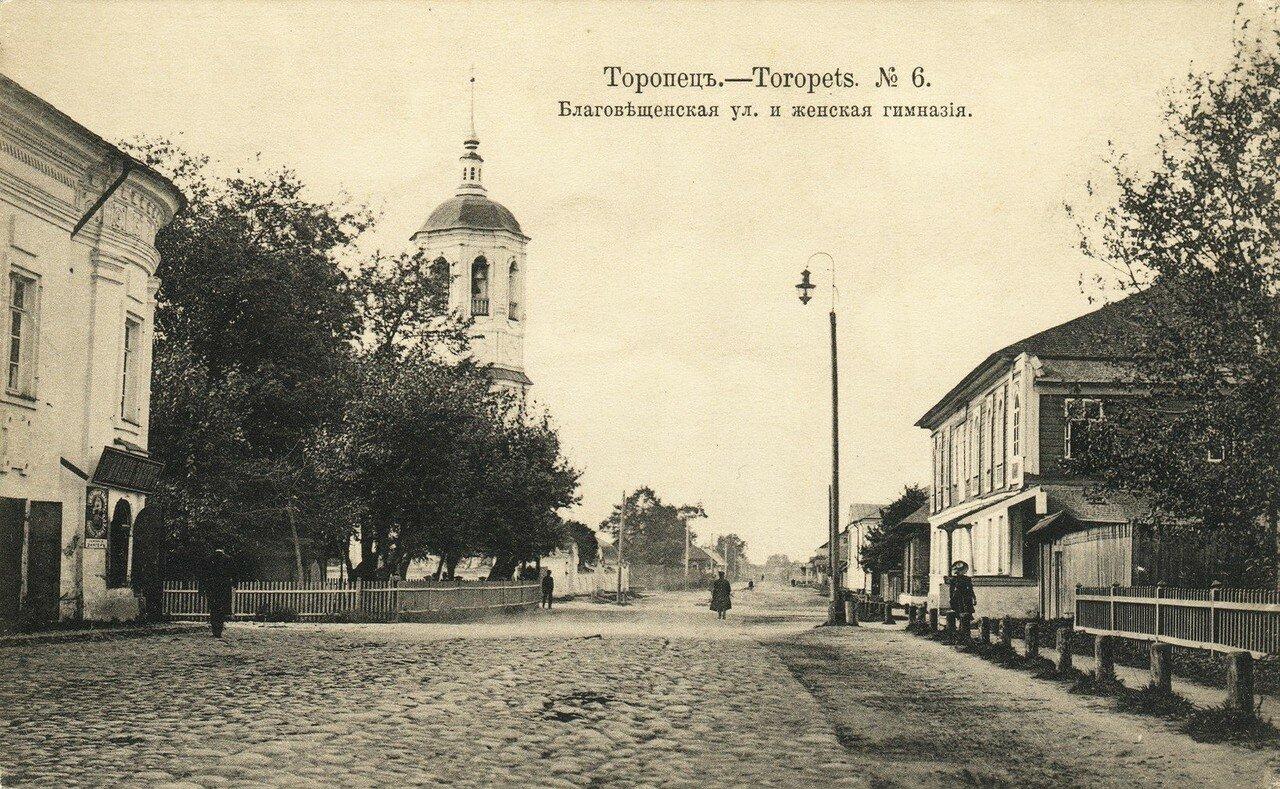 Благовещенская улица и женская гимназия