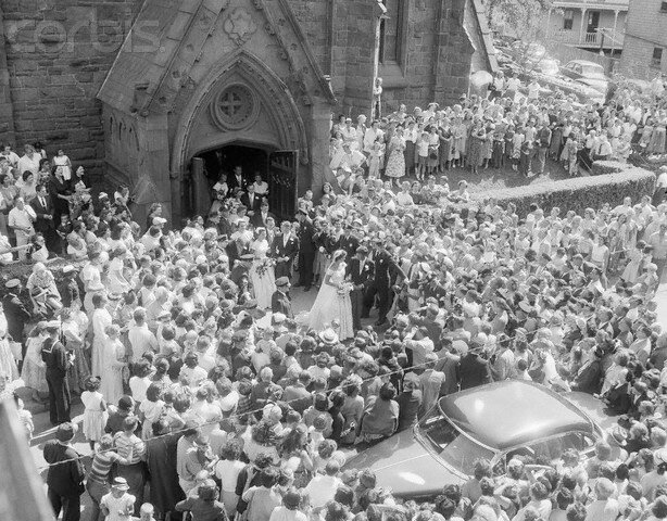 John and Jackie Kennedy Leaving the Church
