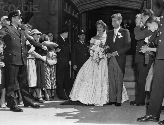 Mr. And Mrs. Kennedy Leave Church
