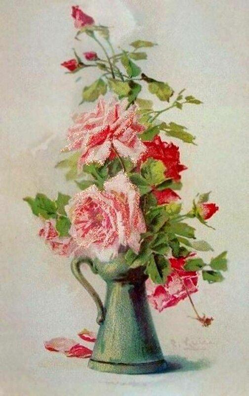 К. Кляйн. Розы в кувшине.