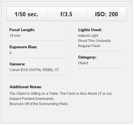 как фотографировать часы - световая схема
