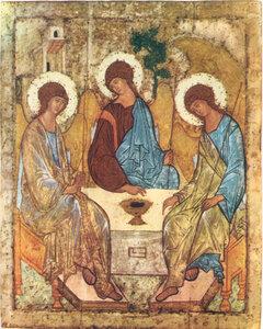 Троица.Андрей Рублев.1410 г