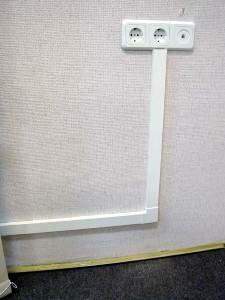 Открытая проводка не только проста в монтаже, но и удобна в эксплуатации.  Все.