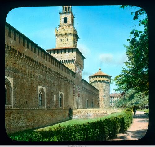 Milan. Sforza Castle: exterior wall