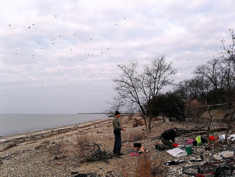 Декабрь 2011, побережье Азовского моря, на закате