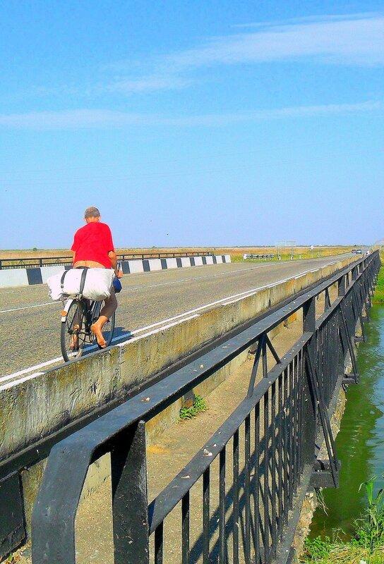 В пути, Кубань, в день летний, велосипедный ...