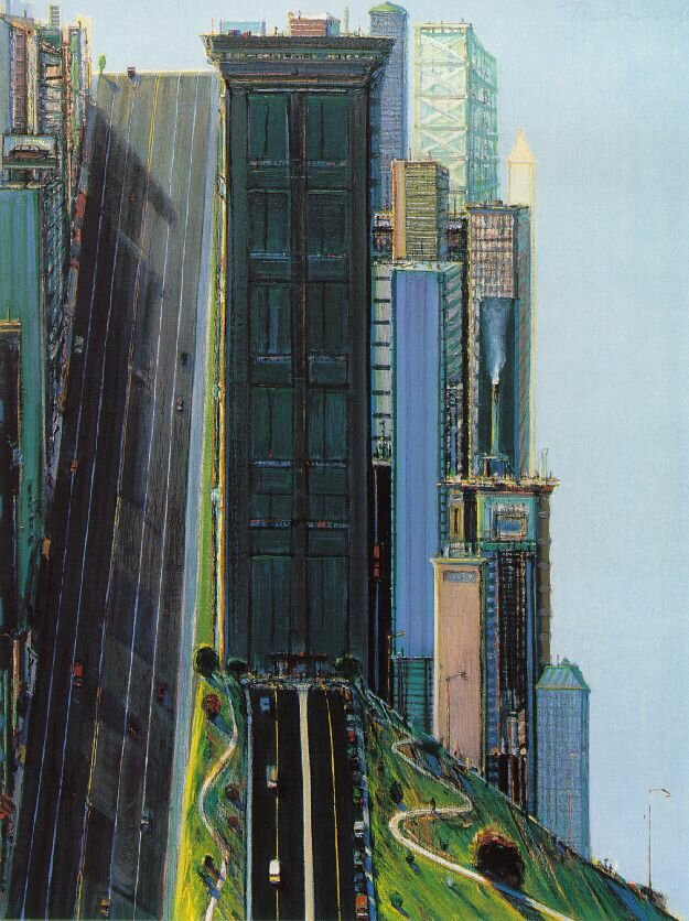 Wayne Thiebaud Hill Street (Day City)1981
