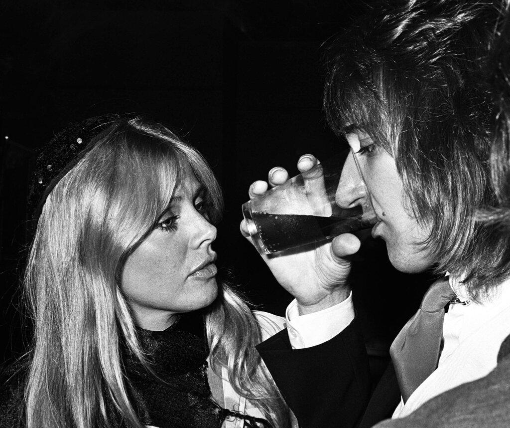 Brit Eklund and Rod Stewart 1976