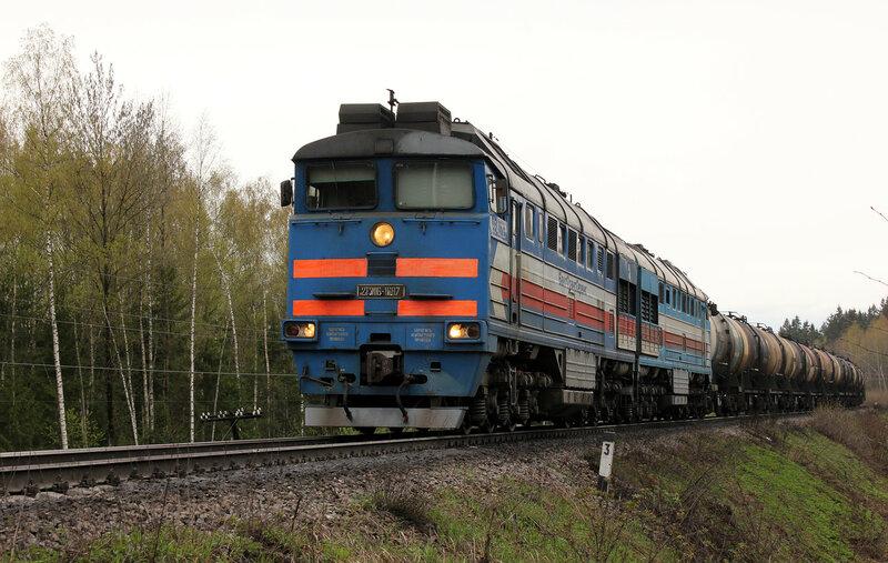 2ТЭ116-1687 на перегоне Муриково - Шаховская