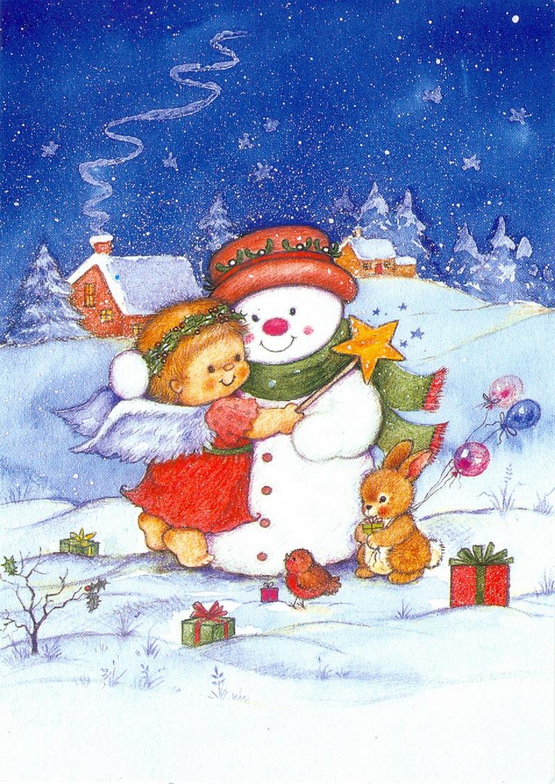 Открытки о снеговике