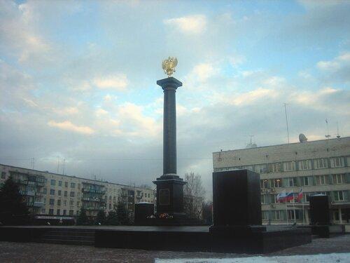 Стела городу Воинской Славы Тихвину
