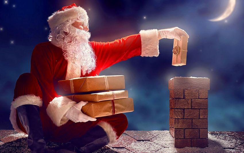 Дед мороз, картинка, новый год, подарки
