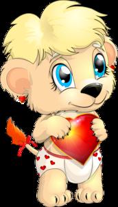 львенок с сердцем