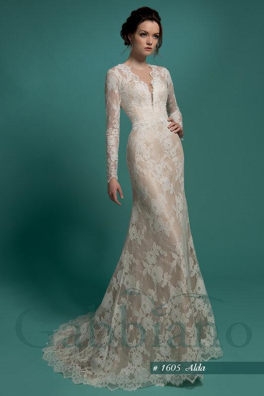 Свадебное платье Альда без шлейфа