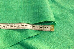 ФТ002 790руб-м Остаток 4,05м Костюмно-плательный лен(100%) ,цвет салатово-бирюзовый меланж,лен приятный,мягкий,непрозрачный,для платьев,юбок,брюк,шорт,легких жакетов,шир.1,52м (2).JPG