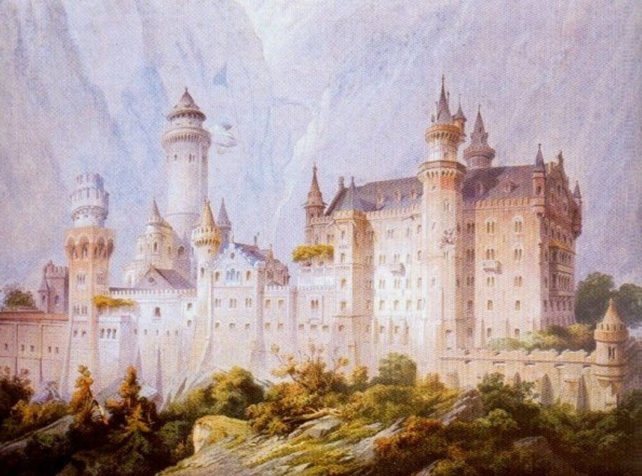 Рисунок для проекта замка, сделанный в 1869 году.