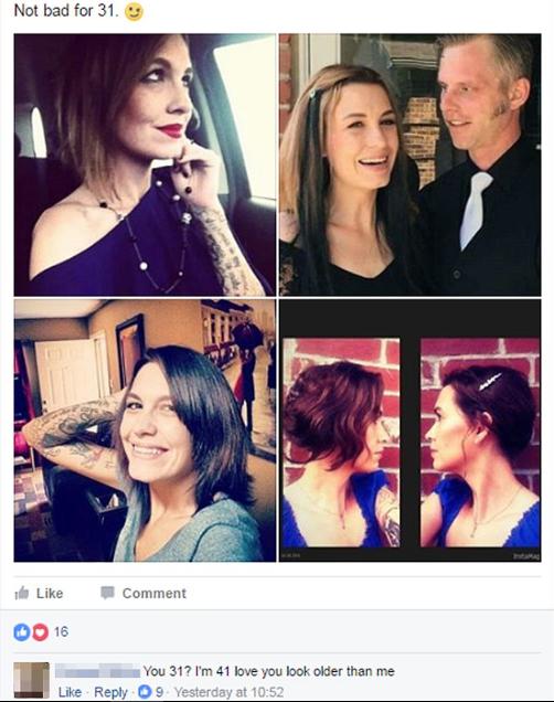 Одна женщина выложила четыре своих фотографии с подписью «Неплохо для 31 года». Их прокомментировали