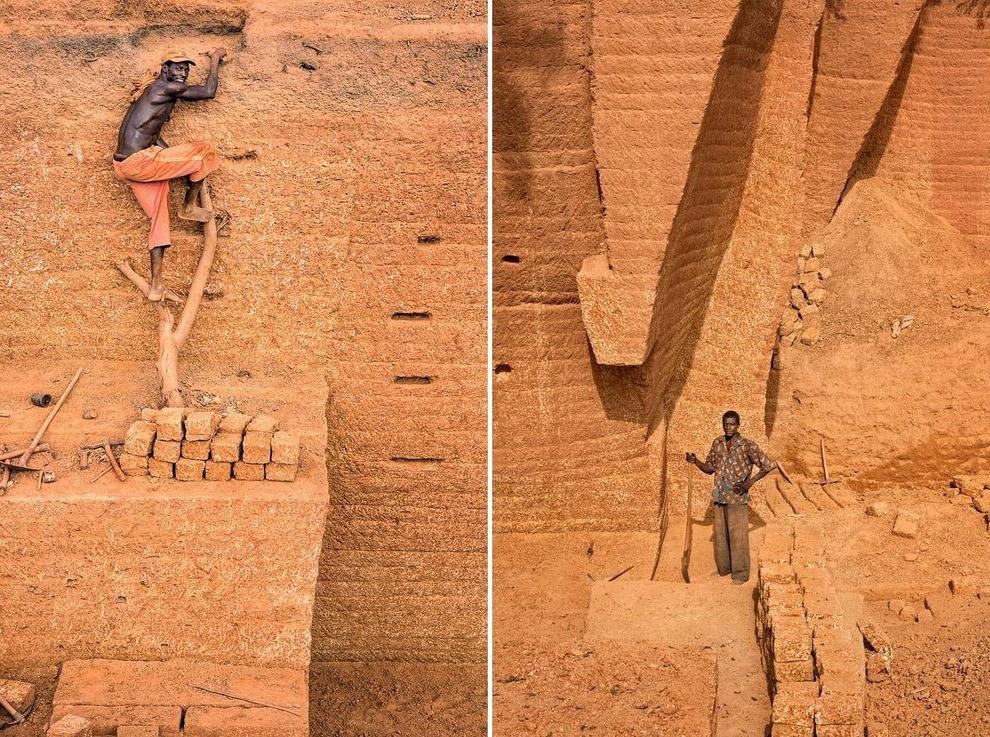 Необычный кирпичный карьер в Буркина-Фасо (13 фото)