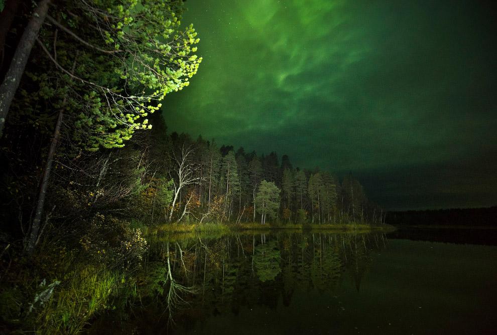 17. Под ночным небом северной Карелии.