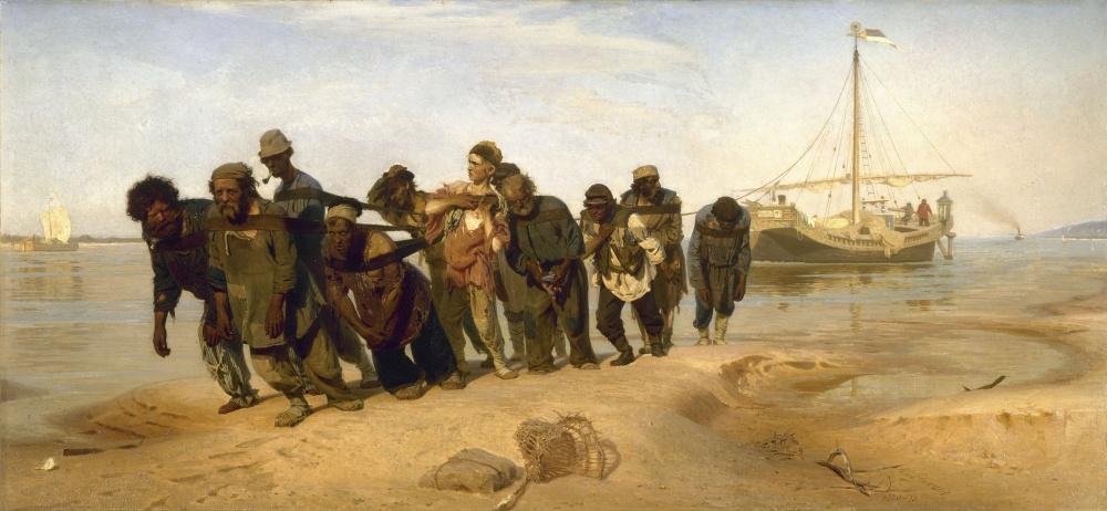 Илья Репин, «Бурлаки наВолге», 1873
