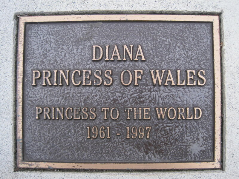 Diana, Princess of Wales memorial plaque, Balboa Park