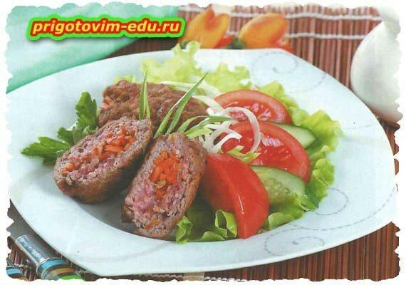 Мясные рулеты с корейской морковью. рецепт приготовления