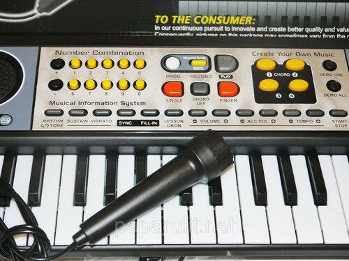 Синтезатор детский с микрофоном MQ-4915 - 49 клавиш