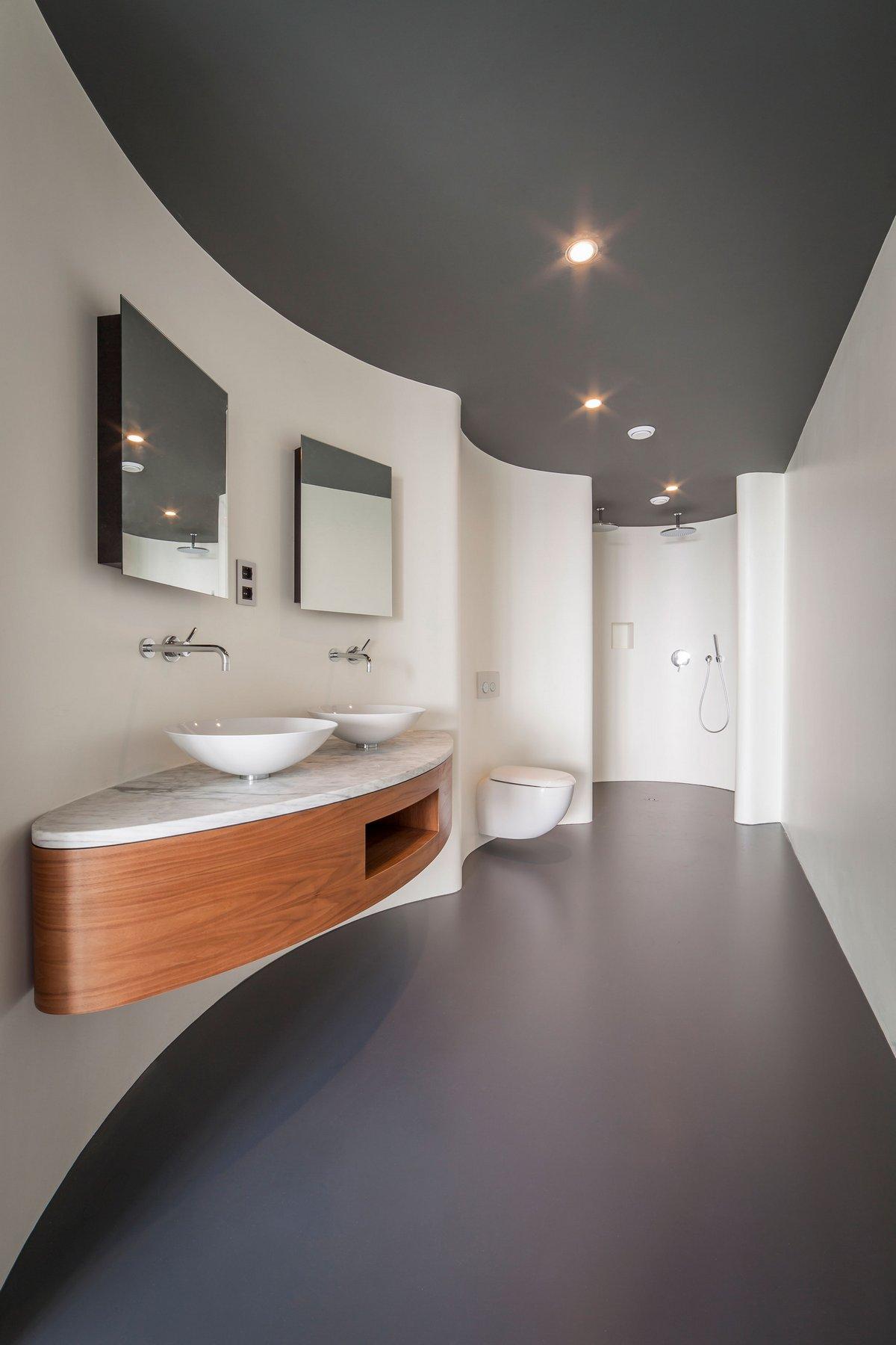 Изогнутые стены в ванной