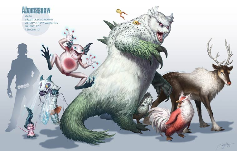 Realistic and epic version of the Pokemon