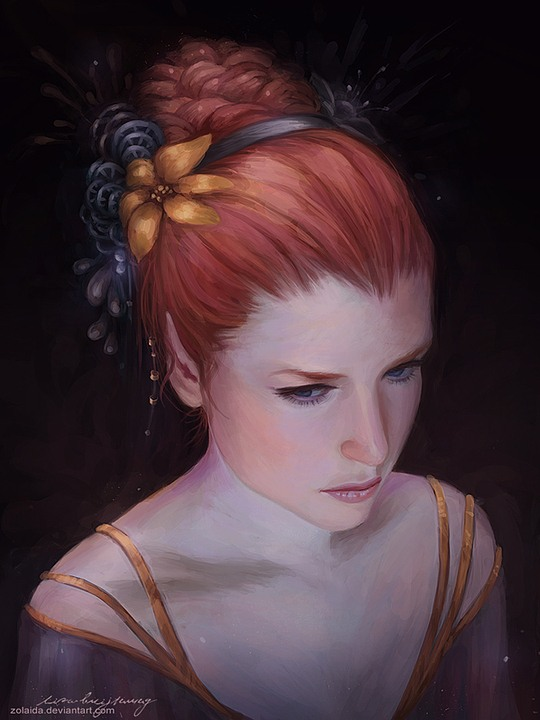 Beautiful Digital Portraits by Lisa Buijteweg