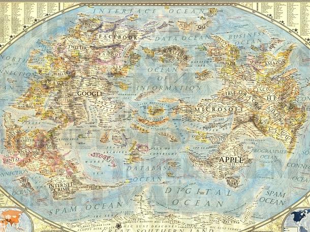 Map of the Internet - Quand un artiste dresse une carte incroyable de l'Internet en 2013