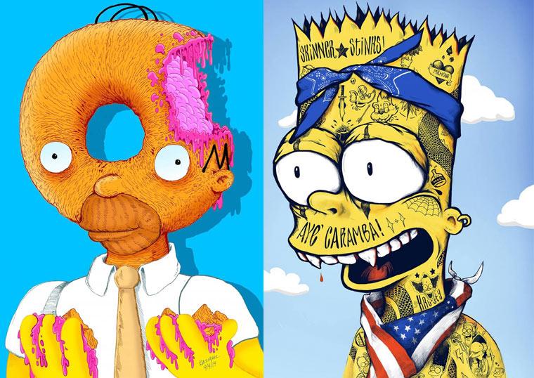 Bootleg Bart – Une excellente serie de mashups entre Simpson et pop culture (22 pics)