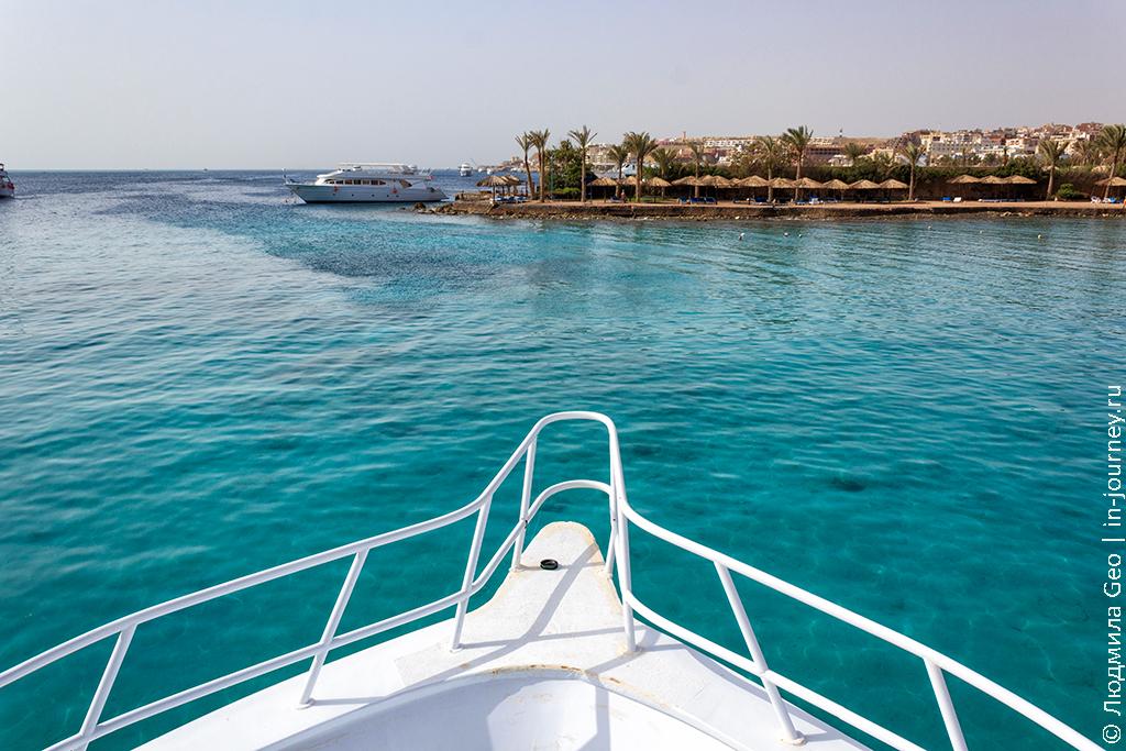вид с яхты на Красное море