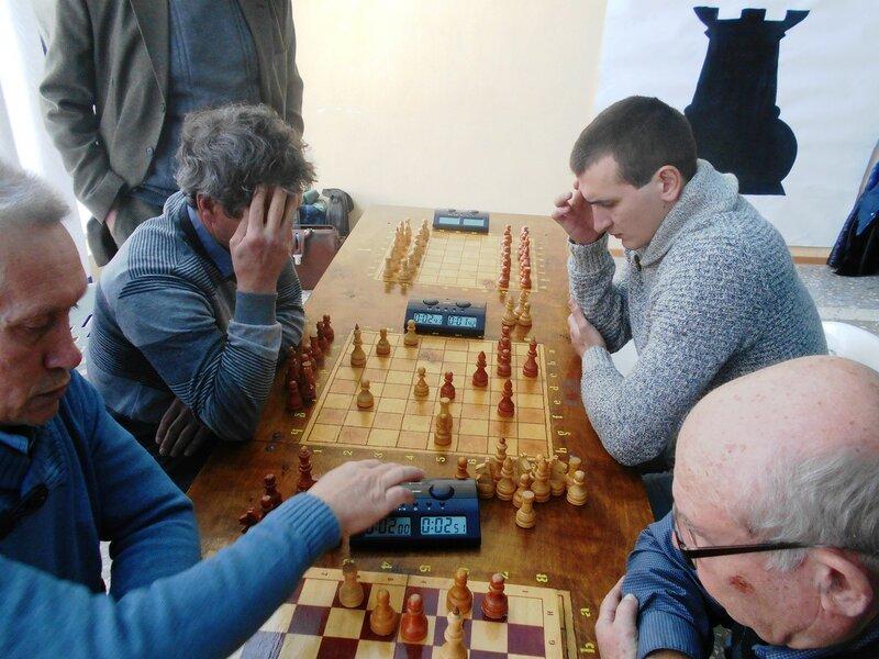 В напряжении ... Шахматный турнир. Выселки. Декабрь 2016