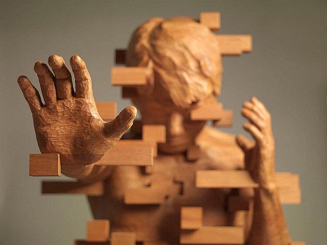 Хсу Тунг Хан. Пиксельные скульптуры.