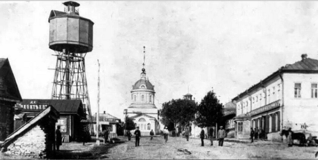 Вид на Каланчу и Никольскую площадь