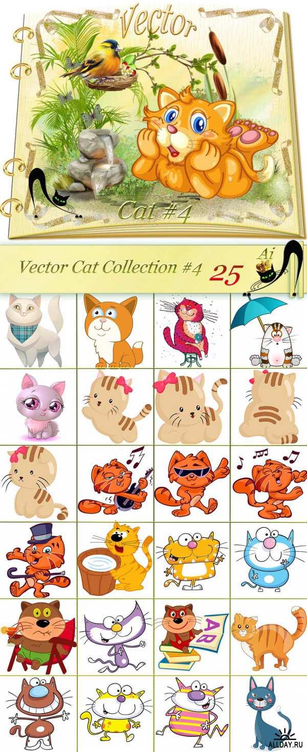 Кошки Котята - Векторный клипарт