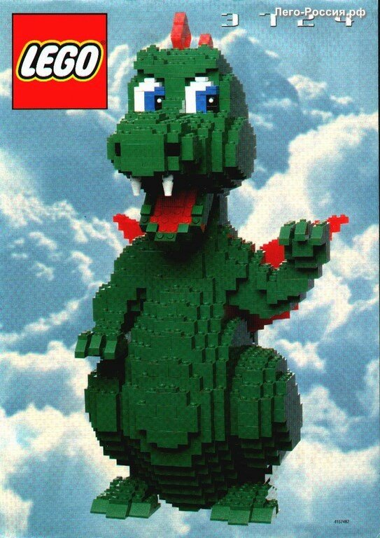 Дракон из конструктора Lego