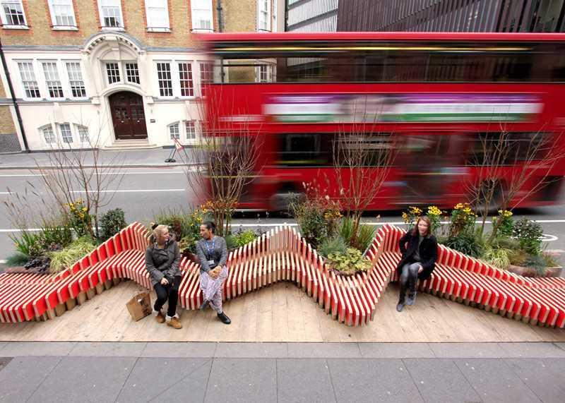 5. Этот парклет в Лондоне спроектирован WMB Studio.