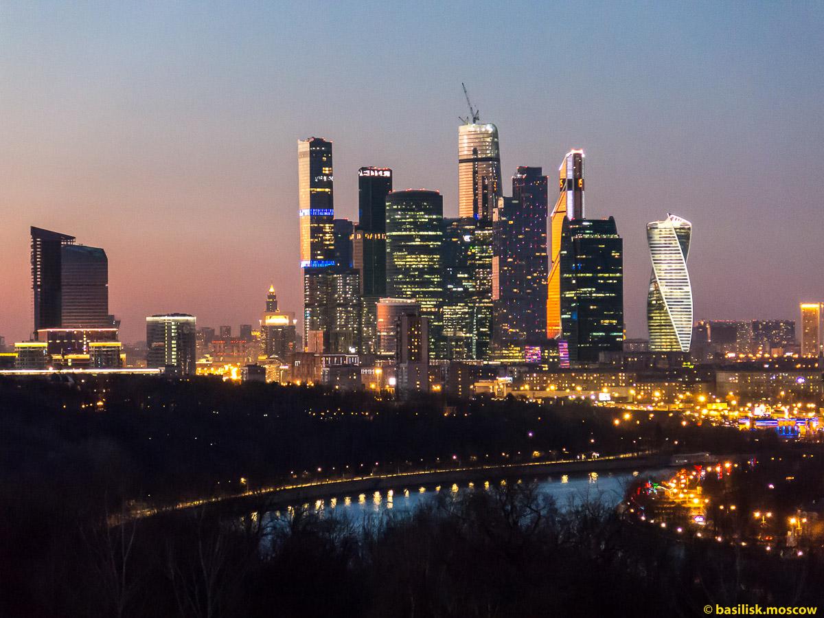 Вечерняя Москва. Moscow City. Март 2016.