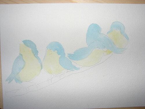 Фото-урок Птички акварелью