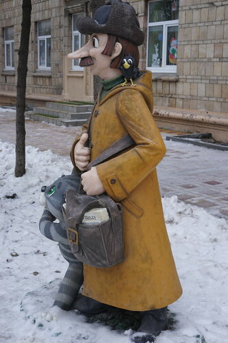 Почтальон Печкин и галчонок
