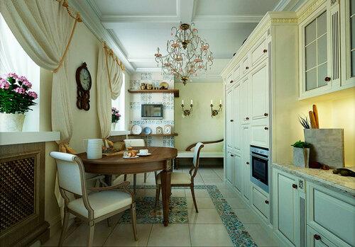 Пэчворк в интерьере кухни