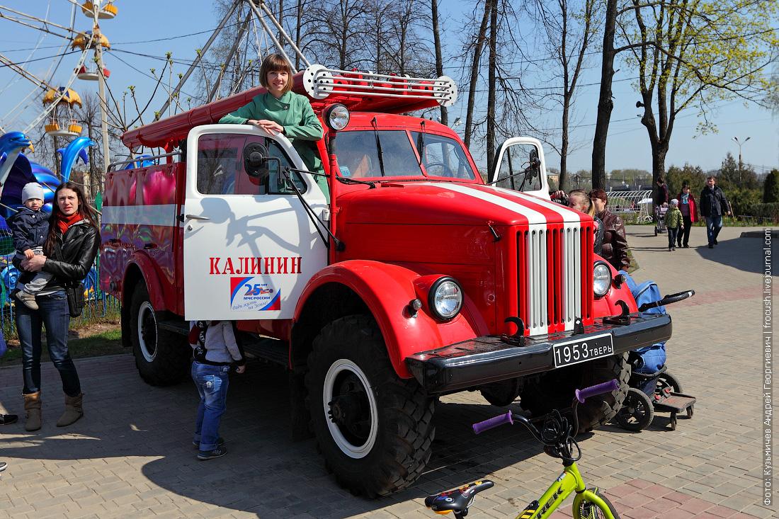 фото ретро пожарный автомобиль