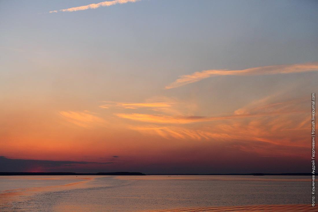 Закат над Иваньковским водохранилищем